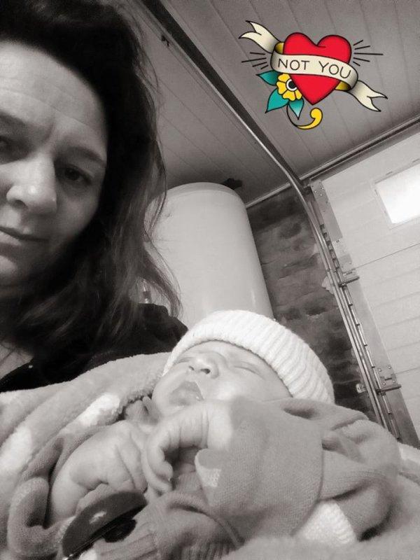 ma fille nadege et son petit fils mon arriere a moi
