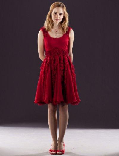 Robe rouge emma watson