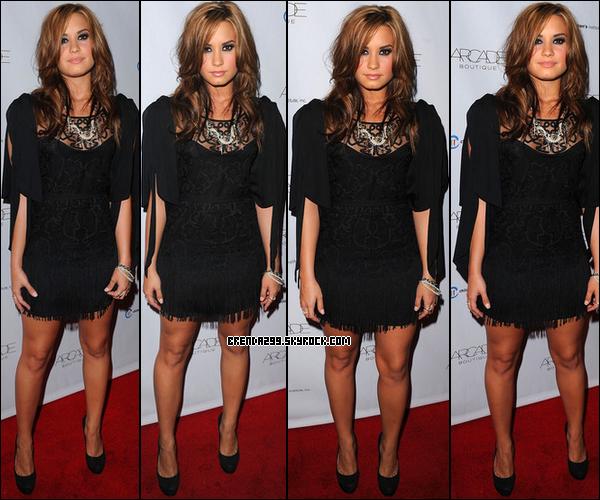 Demi était au « The Autumn Party » présenté par la boutique « ARCADE » au London Hotel le 29/09/10