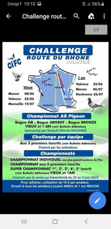 Information VCDA Route du Rhône 2019