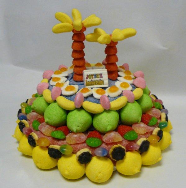 composition gâteau bonbon des iles
