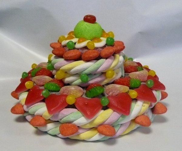 composition gateau en bonbon