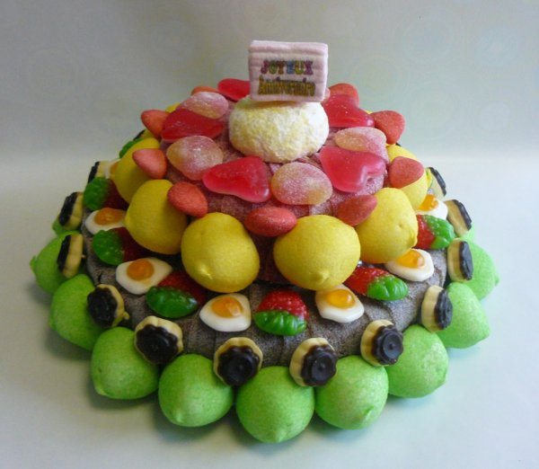 composition gateau bonbon