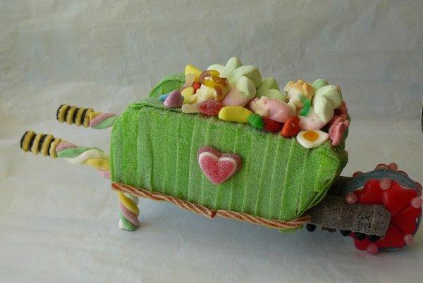 brouette en bonbon