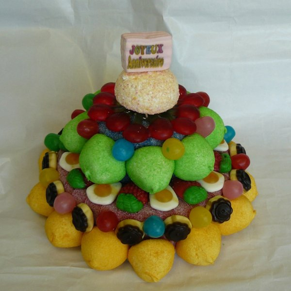 Gateau anniversaire en bonbon