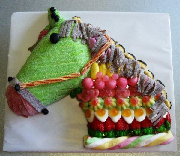 cheval en bonbon