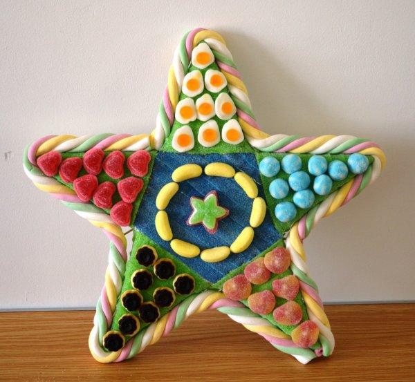 Etoile de stars en bonbon