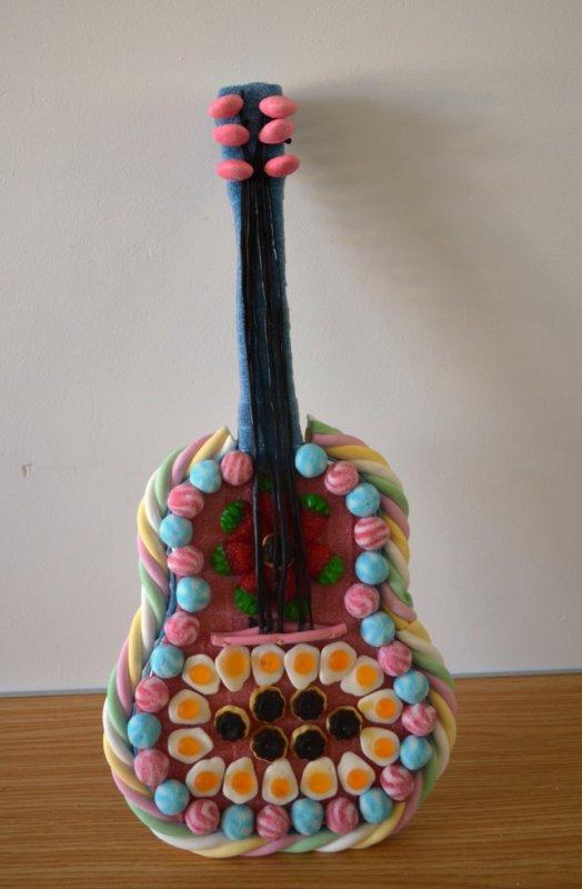 guitare en bonbon