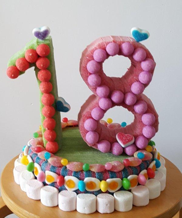 18 ans en bonbon les jolis bonbons - Decoration en bonbon pour anniversaire ...