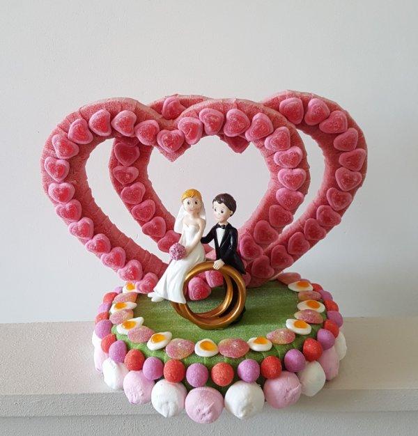 deux coeurs en bonbon