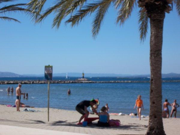 """vacance d'hiver au soleil de marbella """"la plage"""""""