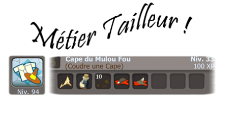 Mes occupations du moment, Goultarminator & Tailleur.