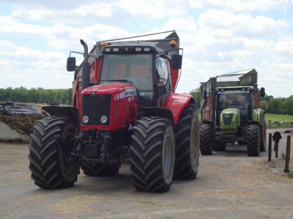 mf 7495 + claas ares