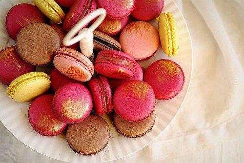 Macarons dorés