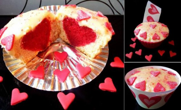 Cupcake coeur