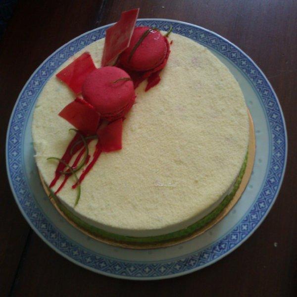 Gâteau citron vert & macarons