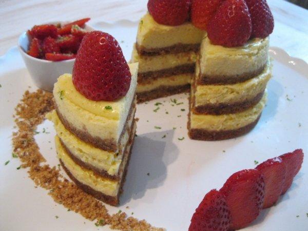 Cheesecake fraise/citron vert