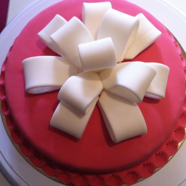 Gâteau noeud à la fraise