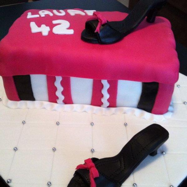 Gâteau boite à chaussures