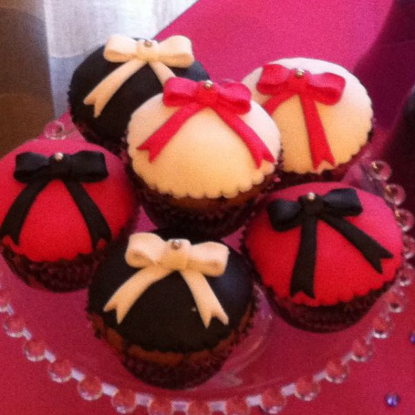 Cupcakes noeud papillon