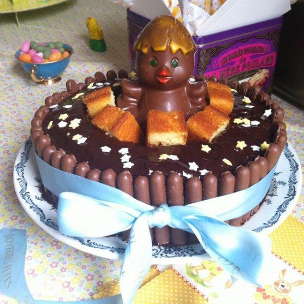 Gâteau poussin chocolat