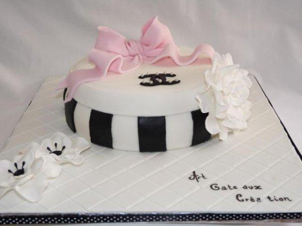 Gâteau chocolat blanc chanel