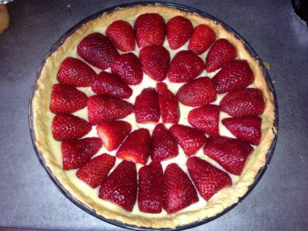 Tartes aux fraises pâte à la vanille