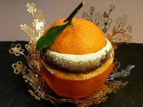 Gâteau chocolat cuit dans l'orange