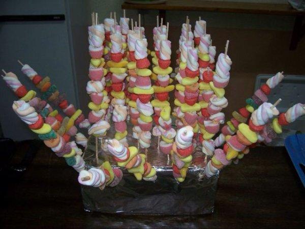 Brochette de bonbons !