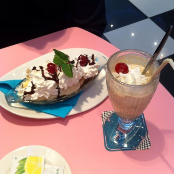 Banana split et milk shake nutella