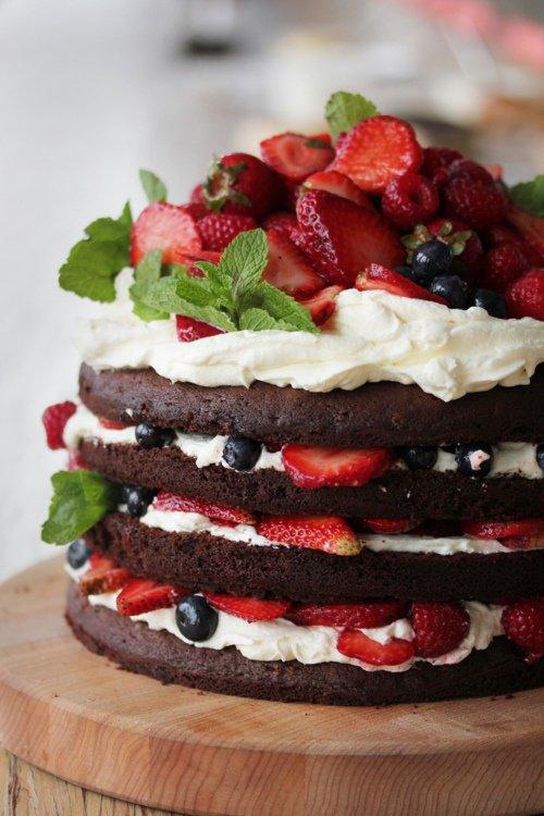 Pancakes chocolat chantilly fraise