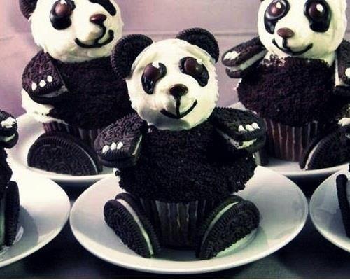 Cupcake Oreo panda