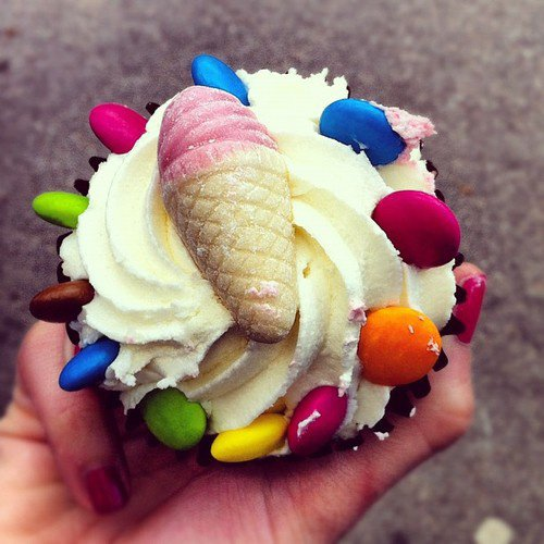 Cupcake glace et smarties