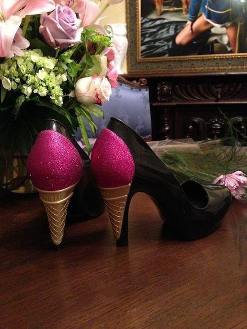 Chaussures à talons forme cornets de glace !