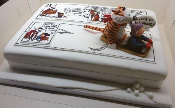 Gâteau d'anniversaire Calvin and Hobbs