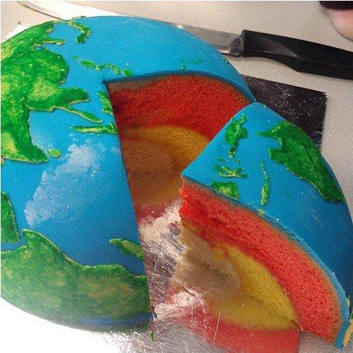 Gâteau forme planète Terre