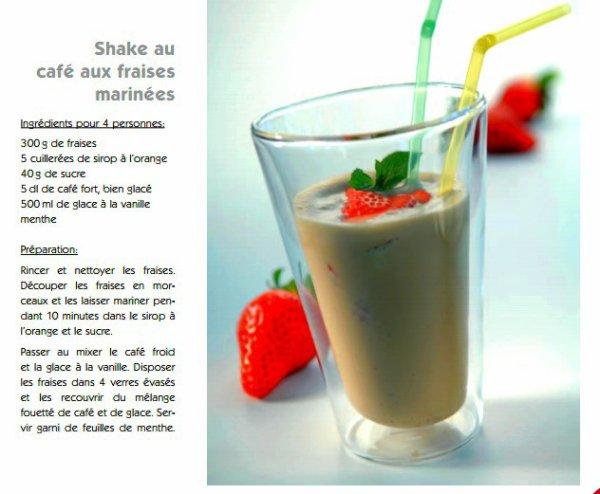 Recette : Milkshake café aux fraises