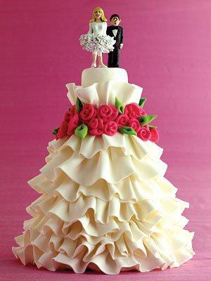Sublime gâteau forme robe de mariée