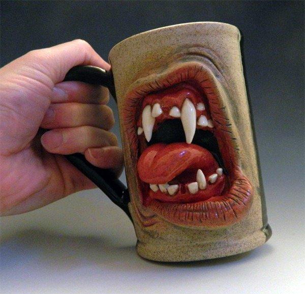 Tasse horreur style dents de vampire