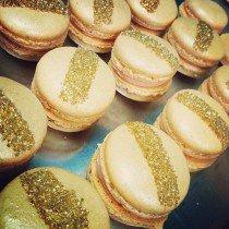 Macarons dorés paillettes