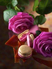 Macarons et fleurs