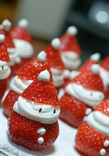Fraises forme père Noel