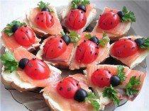 Tomates cerises en forme de coccinelle