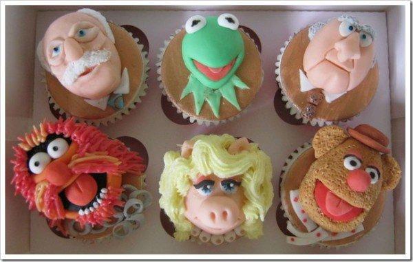 Cupcakes Muppet show (Kermit la grenouille)