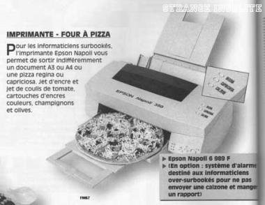 L'imprimante à pizza !