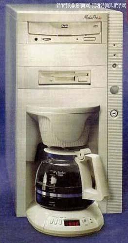La tour d'ordinateur fonction cafetière !