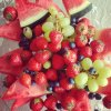 Fraises et raisins