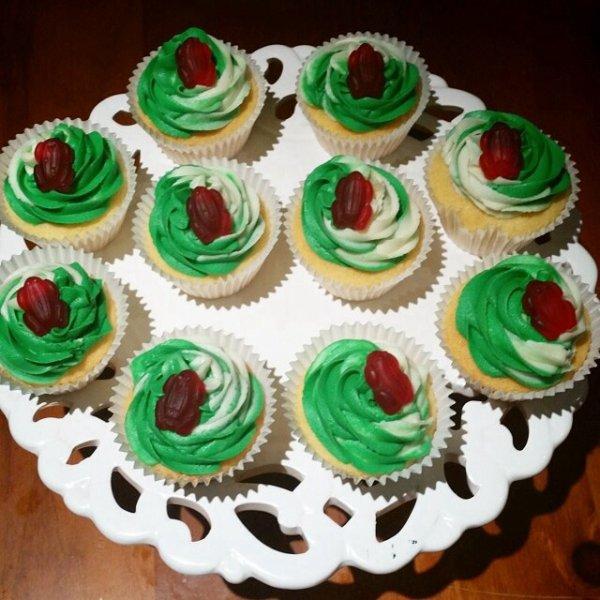 Cupcake menthe et bonbon haribo