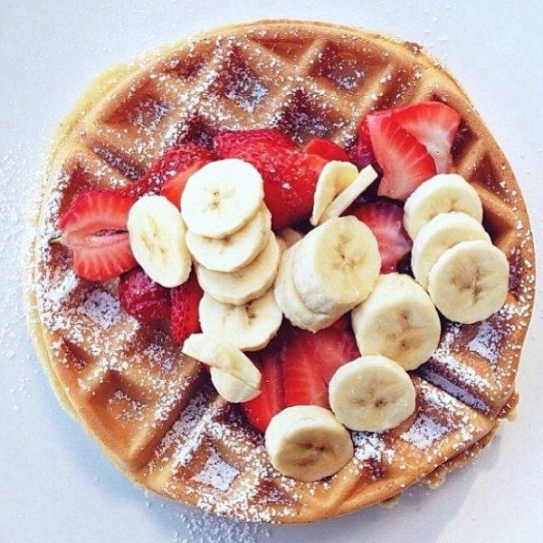 Gaufres banane fraise