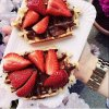 Gaufres fraise et chocolat